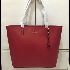Kate Spade large Tote Bag Red Color New